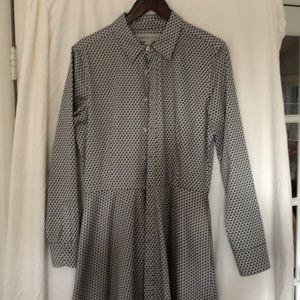 Serena and Lily Jane shirtdress diamond print